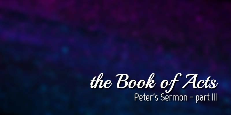 abstract background with text Peter's Sermon - Part 3